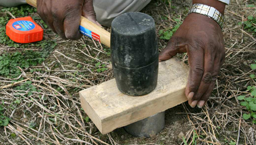 collecting a bulk density sample