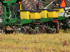 planting into a chemically-treated cover crop